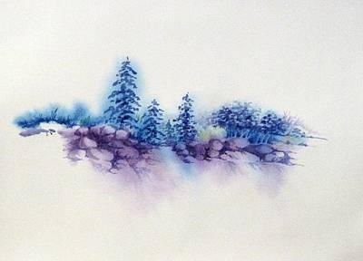 Painting - Rocks In Violet by Renee Goularte
