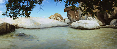 The Baths Photograph - Rocks In Water, The Baths, Virgin by Panoramic Images