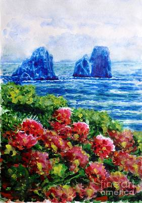 Painting - Rocks Of Capri by Zaira Dzhaubaeva