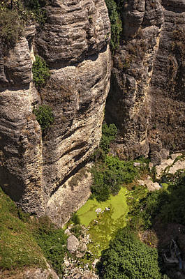 Photograph - Looking Down From The Rocks Of Ronda. Andalusia. Spain by Jenny Rainbow