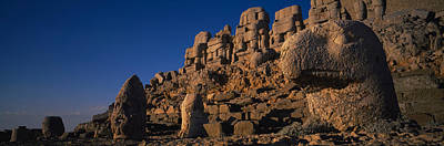 Ancient Civilization Photograph - Rocks On A Cliff, Mount Nemrut, Nemrud by Panoramic Images