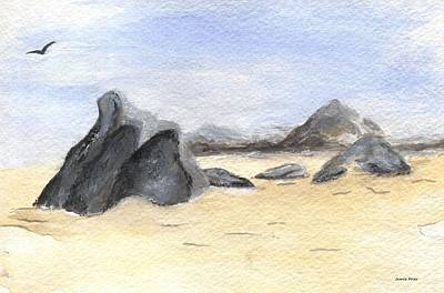 Painting - Rocks On Beach by Jamie Frier
