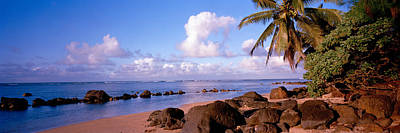 Urban Scenes Photograph - Rocks On The Beach, Anini Beach, Kauai by Panoramic Images
