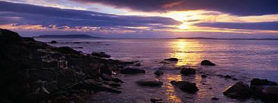 Rocks On The Beach At Dusk, Osmington Art Print by Panoramic Images