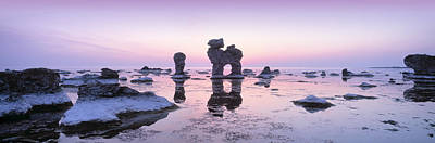 Faro Photograph - Rocks On The Beach, Faro, Gotland by Panoramic Images