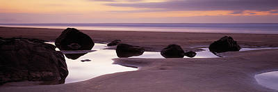 Rocks On The Beach, Sandymouth Bay Print by Panoramic Images