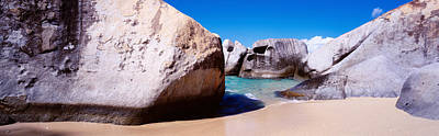 The Baths Photograph - Rocks On The Beach, Virgin Gorda by Panoramic Images