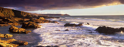 Rocks On The Beach, Whitsand Bay Print by Panoramic Images