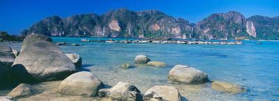 Phuket Photograph - Rocks On The Coast, Phi Phi Islands by Panoramic Images