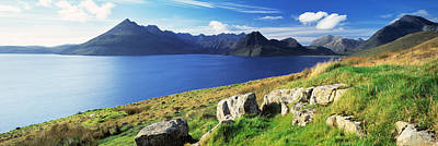 Elgol Photograph - Rocks On The Hillside, Elgol, Loch by Panoramic Images