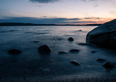 Photograph - Rocks At A Shore by Janne Mankinen