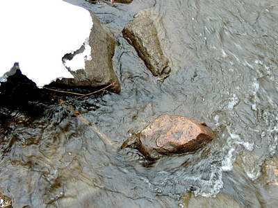 Photograph - Rocks Snow And Water by Amalia Jonas