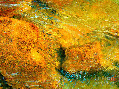 Rocks Under The Stream By Christopher Shellhammer Art Print
