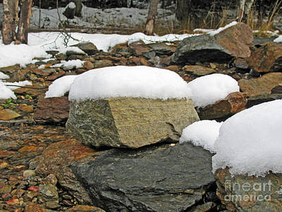 Photograph - Rocks With Frosting by Leone Lund