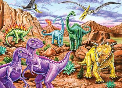 Green Color Photograph - Rocku Mountain Dinos by Mark Gregory