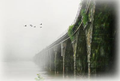 Rockville In The Fog Print by Lori Deiter