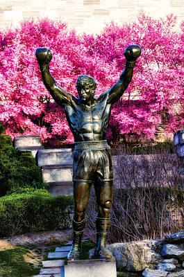 Cherry Blossoms Digital Art - Rocky Among The Cherry Blossoms by Bill Cannon
