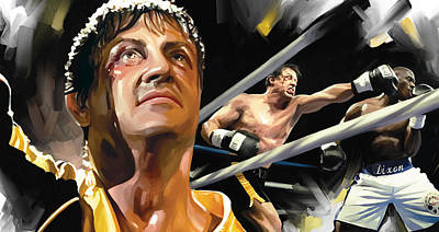 Stallone Painting - Rocky Artwork 1 by Sheraz A