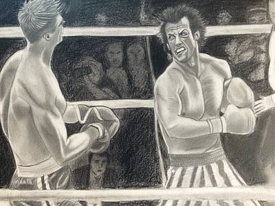 Stallone Drawing - Rocky Balboa 4 by Brian Morris