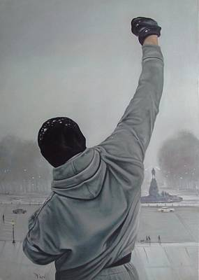 Stallone Painting - Rocky Balboa by Riard