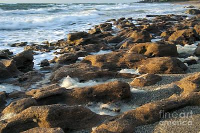 Railroad - Rocky Beach at Sunrise by Darleen Stry