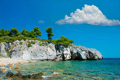 Beach Landscape Mixed Media - Rocky Beach by Roy Pedersen