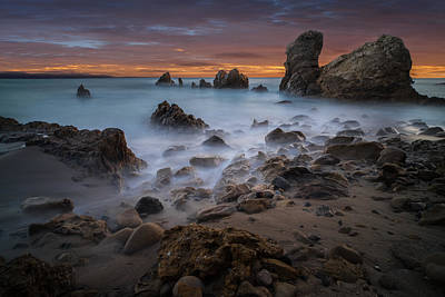 Awesome Photograph - Rocky California Beach by Larry Marshall