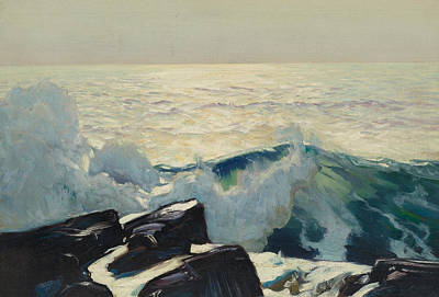 Black Stones Painting - Rocky Coast And Sea by Frederick Judd Waugh
