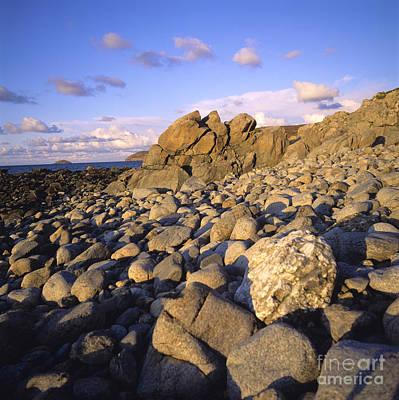 Rocky Coast. Normandy. France. Europe Art Print by Bernard Jaubert