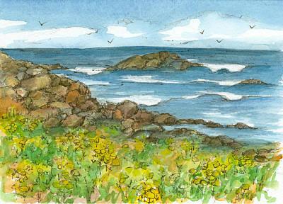 Painting - Rocky Coastline by Cathie Richardson
