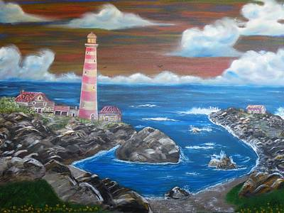 Painting - Rocky Cove by The GYPSY And DEBBIE