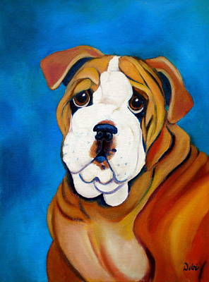 English Bull Dog Painting - Rocky by Debi Starr