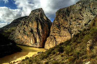 Art Print featuring the photograph Rocky El Chorro In Andalusia by Julis Simo