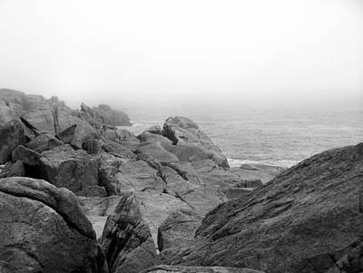 Photograph - Rocky Foggy Coast by Gene Cyr
