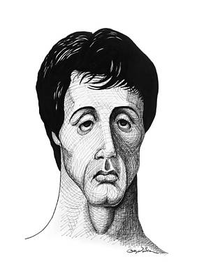 Sylvester Stallone Drawing - Rocky by Gary D Baker
