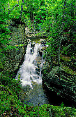 Photograph - Rocky Glen Falls by Michael Hubley