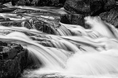 Photograph - Rocky Gorge Bnw  by Jeff Sinon