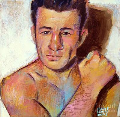 Art Print featuring the painting Rocky Graziano  by Robert Phelps
