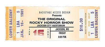 Rocky Digital Art - Rocky Horror Show Ticket Stub Poster by Alain Jamar