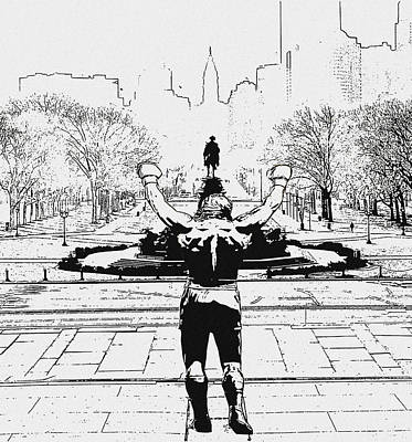 Rocky Is Philadelphia Art Print by Bill Cannon