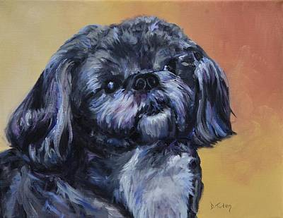 Dog Caricature Painting - Rocky Jones by Donna Tuten