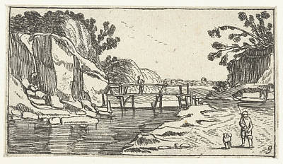 Rocky Landscape With Riverwalk, Esaias Van De Velde Print by Artokoloro
