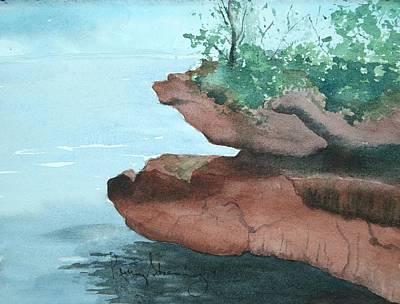 Rocky Ledge Art Print