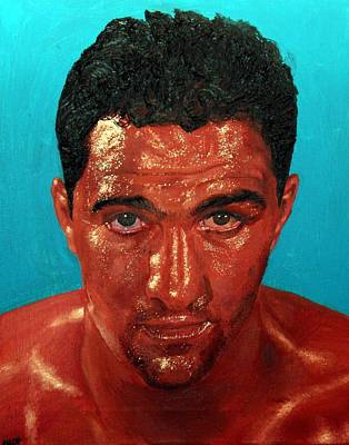 Painting - Rocky Marciano by Michael Swanson
