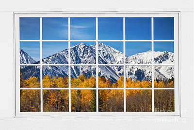 Red Photograph - Rocky Mountain Autumn High White Picture Window by James BO  Insogna