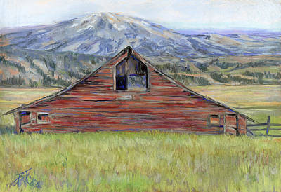 Painting - Rocky Mountain Barn by Billie Colson