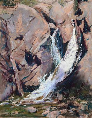 Rocky Mountain Cascade Art Print by Mary Benke