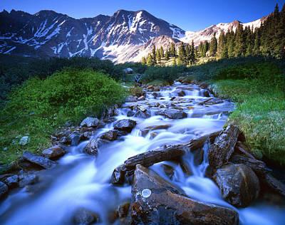 Photograph - Rocky Mountain Cascade by Ray Mathis