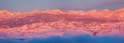 Photograph - Rocky Mountain Continental  Divide First Light Panorama by James BO  Insogna