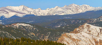 Photograph - Rocky Mountain Continental Divide Winter Panorama  by James BO Insogna